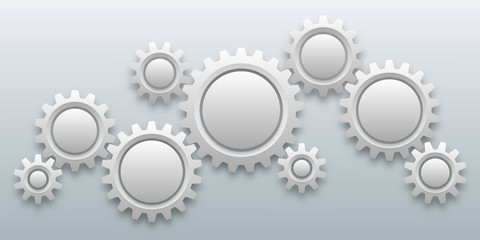 Gears and cogs background #Vector Graphics