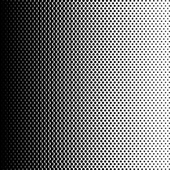 Halftone dot gradient pattern. Pop art halftone template. Black and white background.Vector illustration