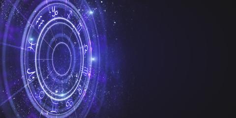 Creative zodiac wheel backdrop