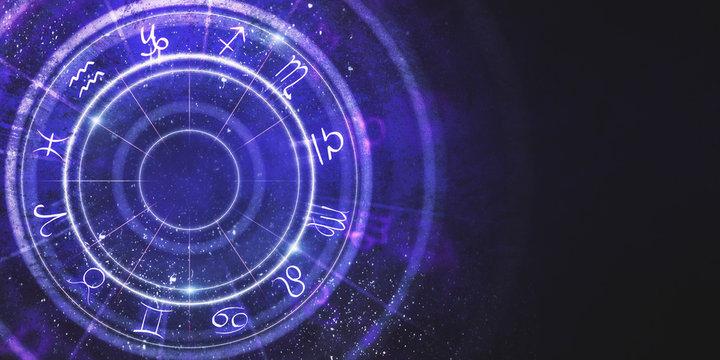 Creative zodiac wheel background