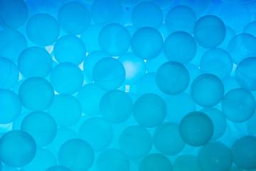 background of bright blue balls