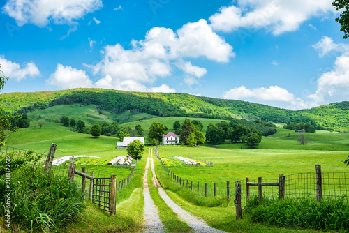 Scenic views of Burkes Garden in Tazewell County Virginia. \