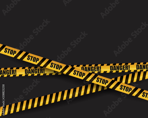 black and yellow warning sign striped ribbon site under construction page or template for