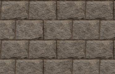 grunge background gray rectangular block stone wall base design monochrome