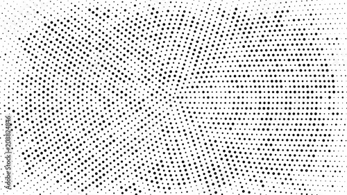 Halftone dotted background  Halftone effect vector pattern  Circle