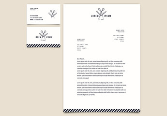 Barber and Hair Stylist Stationery Set