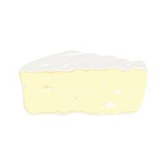 camembert on white