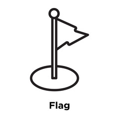 Flag icon vector sign and symbol isolated on white background, Flag logo concept, outline symbol, linear sign