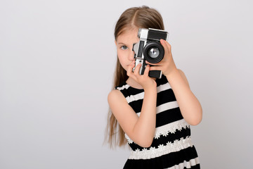 Little pretty girl photographer