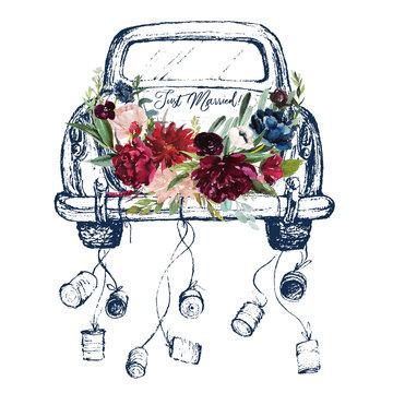 Zum ausdrucken just married hochzeitsauto 31 Hochzeitsauto