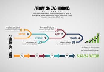 Arrow Line Infographic