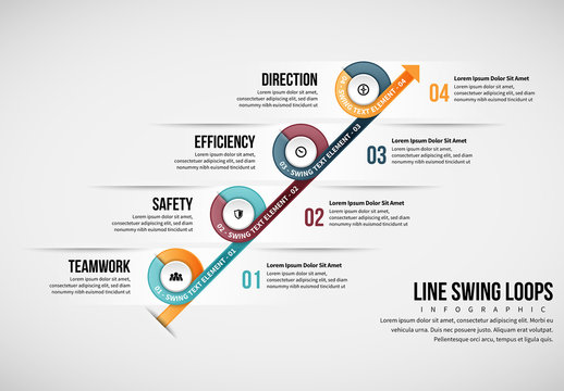 Line Swing Loops Infographic