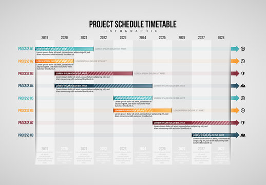 Project Schedule Table Infographic