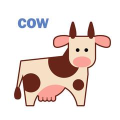 Farm animal cow white