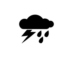 thunder clouds icon design illustration,glyph style design, designed for web and app