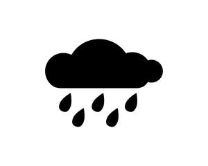 rain cloud icon design illustration,glyph style design, designed for web and app