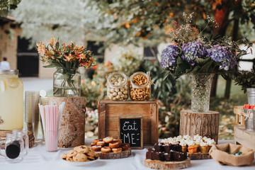 bohemian wedding candy bar