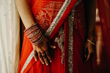 Bride at an Indian Wedding