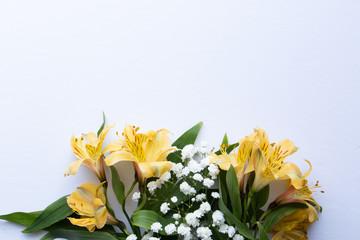 Yellow Floral Desktop Mockup