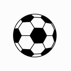 football soccer ball icon on white background.