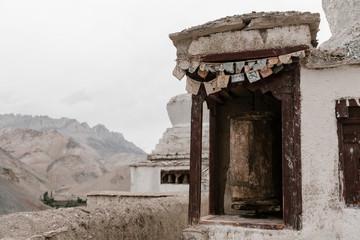 White Tibet Buddhism monastery on the mount