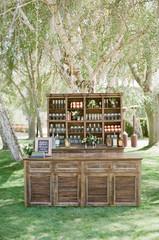 Outdoor wedding seating plan