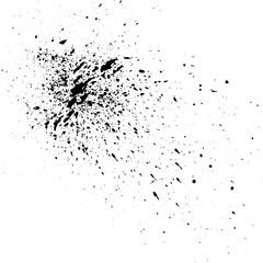 Abstract grunge texture background - vivid black paint illustration.