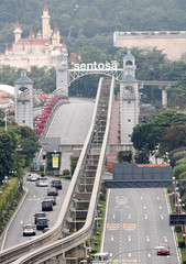 The motorcade of North Korean leader Kim Jong Un travels towards Sentosa for his meeting with U.S. President Donald Trump, in Singapore