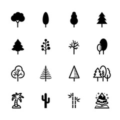 Tree icons with White Background