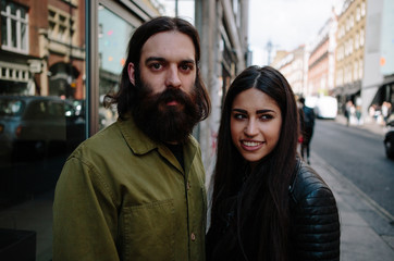 Young couple enjoying a day out in London