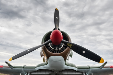 CAC Boomerang against a cloudy sky