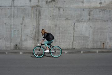 Cycling on road bike