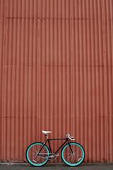 Single-speed bike outdoors