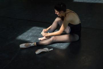 Ballerina Training in the Studio.