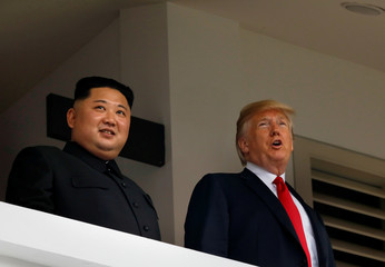 U.S. President Donald Trump and North Korea's leader Kim Jong Un hold a summit at the Capella Hotel on the resort island of Sentosa, Singapore