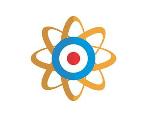 neutron atom molecular proton particle chemistry image vector icon