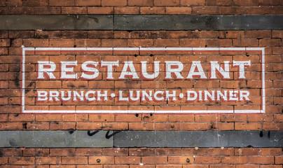 stylish restaurant sign