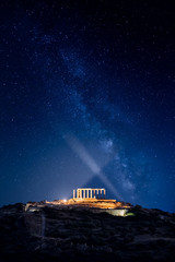Temple of Poseidon at Sounion Under the Stars