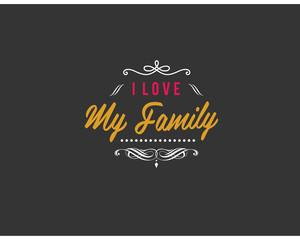 i love my family logo vector