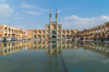 The Amir Chakhmaq Complex is a prominent structure in Yazd, Iran. It is a mosque located on a square of the same name. Property release is not needed for this public area.