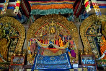 Buddhastatuen im Kloster Erdenetsu in Karakorum, der alten Hauptstadt der Mongolei