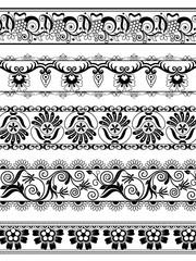 Vintage ornate floral border for divider