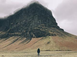 Girl and Mountain