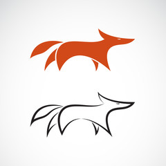 Vector of fox design on white background, Wild Animals, Vector illustration. Easy editable layered vector illustration.