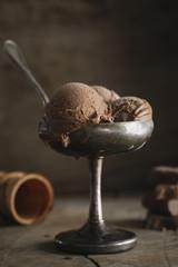 Tasty homemade chocolate icecream