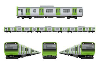 電車、鉄道:山手線セット