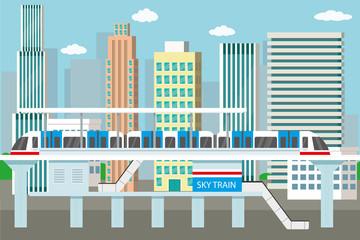 Subway or skytrain station,city metro.