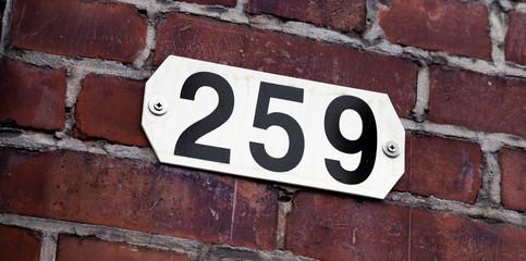 Hausnummer 259