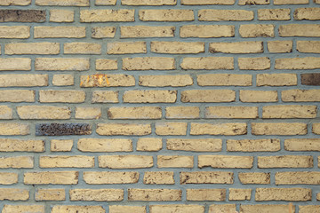 Striped brick walls  is used as the background.
