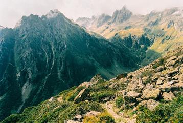 Alpine Peaks in Warm Afternoon Light Shot on Film